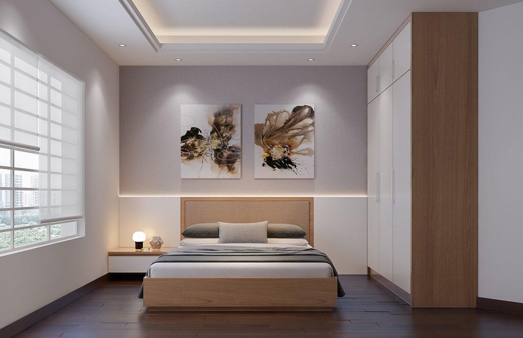 sypialnia, kolor ścian, biały, meble